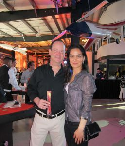 Nadia with voiceover artist David Marc, who is on the advisory board of the Don LaFontaine Voiceover Lab at the Screen Actors Guild Poker Classic
