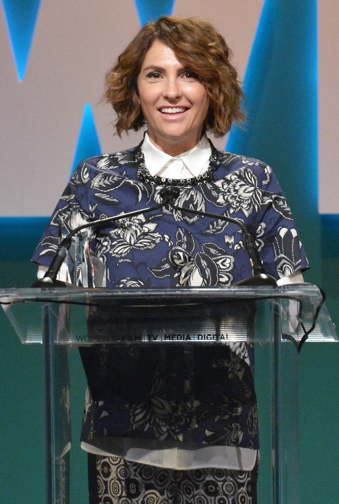 CENTURY CITY, CA - JUNE 16:  Honoree Jill Soloway accepts The Lucy Award for Excellence in Television onstage during the Women In Film 2015 Crystal + Lucy Awards Presented by Max Mara, BMW of North America, and Tiffany & Co. at the Hyatt Regency Century Plaza on June 16, 2015 in Century City, California.  (Photo by Charley Gallay/Getty Images for Women In Film)