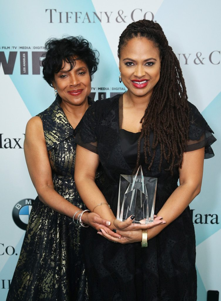 CENTURY CITY, CA - JUNE 16:  Actress Phylicia Rashad (L) and honoree Ava DuVernay, recipient of The BMW Dorothy Arzner Directors Award, pose backstage at the Women In Film 2015 Crystal + Lucy Awards Presented by Max Mara, BMW of North America, and Tiffany & Co. at the Hyatt Regency Century Plaza on June 16, 2015 in Century City, California.  (Photo by Mark Davis/Getty Images for Women in Film)